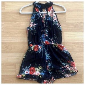 Anthropologie Band of Gypsies Floral Romper